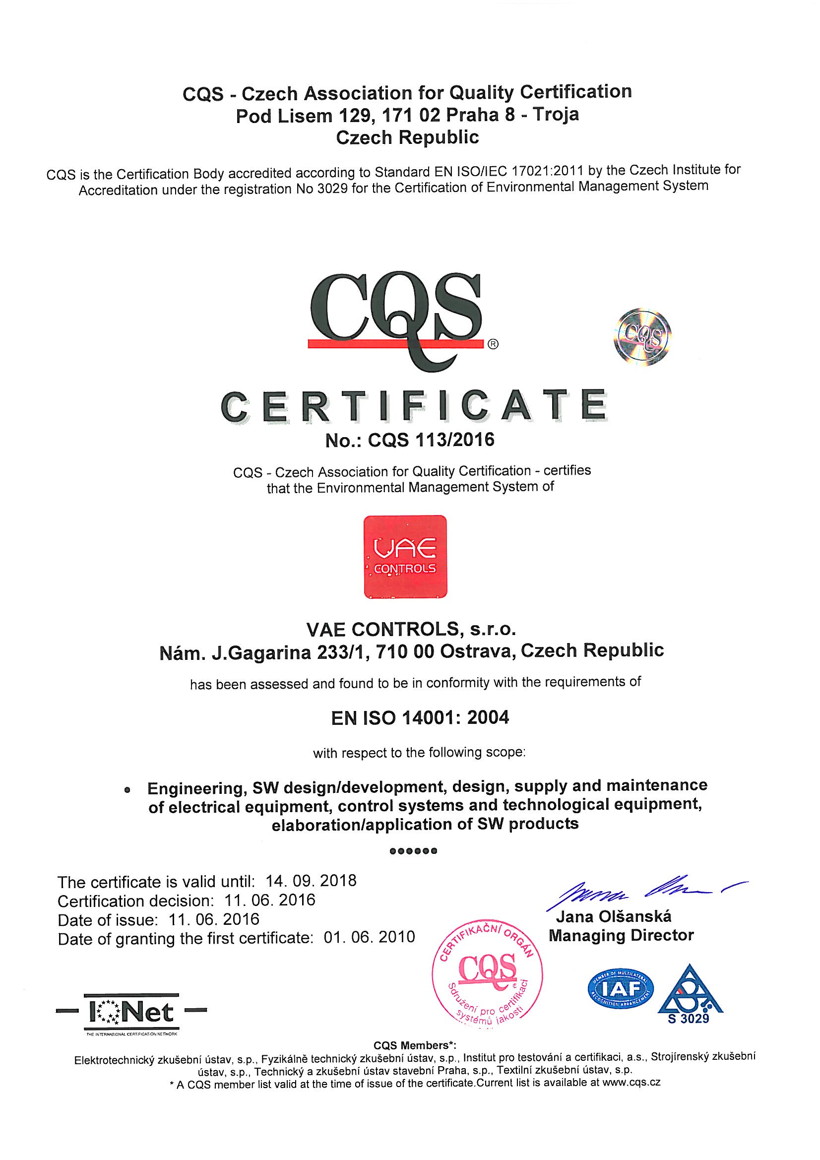 iso 14001 certification validity period
